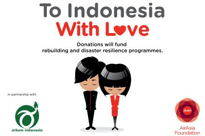 รูปข่าว แอร์เอเชียรับบริจาคช่วยฟื้นฟูภัยพิบัติในอินโดนีเซีย