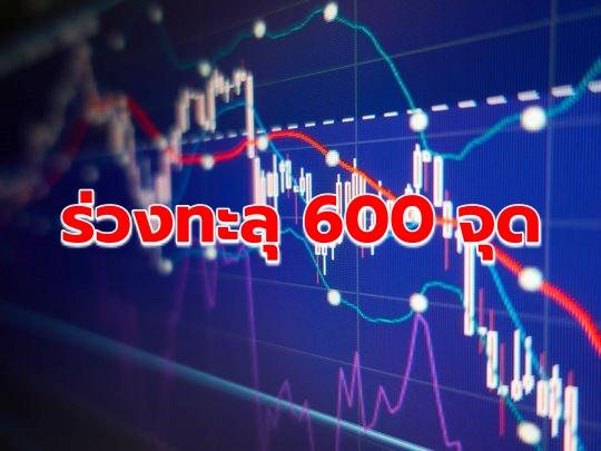 ดาวโจนส์ร่วงทะลุ 600 จุด รับข่าวจีนขึ้นภาษีตอบโต้สหรัฐ