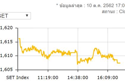 รูปข่าว หุ้นไทยปิดร่วง 8.68 จุดมูลค่าซื้อขาย 5.1 หมื่นล้านบาท