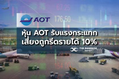 รูปข่าว ผวาหุ้น AOT รับแรงกระแทก 'เสี่ยงถูกรีดรายได้ 10%'