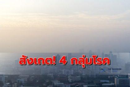 รูปข่าว ย้ำผู้ป่วย 4 กลุ่มโรคสังเกตอาการ ผลฝุ่น PM 2.5