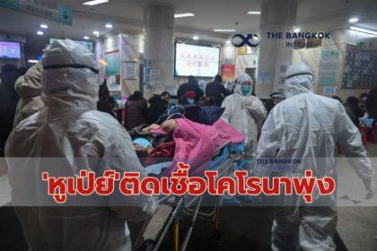 รูปข่าว 'หูเป่ย์'เผยยอดผู้ติดเชื้อไวรัสโคโรนาพุ่ง 323 ราย-'อู่ฮั่น'ดึง 24 โรงพยาบาลรับผู้ป่วย