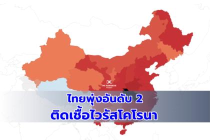 รูปข่าว ระทึก!! ไทยขึ้นแท่นอันดับ 2 ติด 'เชื้อไวรัสโคโรนา' รองจากจีน