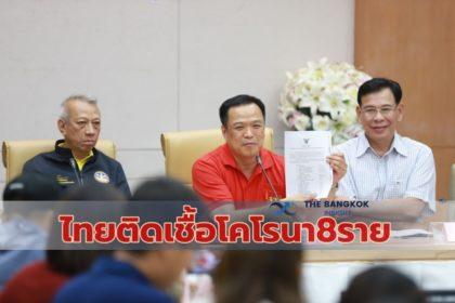 รูปข่าว สธ.ยันไทยติดเชื้อไวรัสโคโรนา 8 คน – หายดีกลับบ้านแล้ว 5 ราย