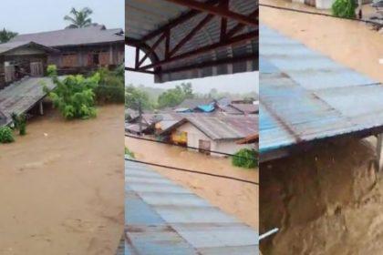 รูปข่าว เปิดคลิปฝายแตก น้ำทะลักท่วมบ้านเรือน สาวเมืองเลยขอความช่วยเหลือด่วน