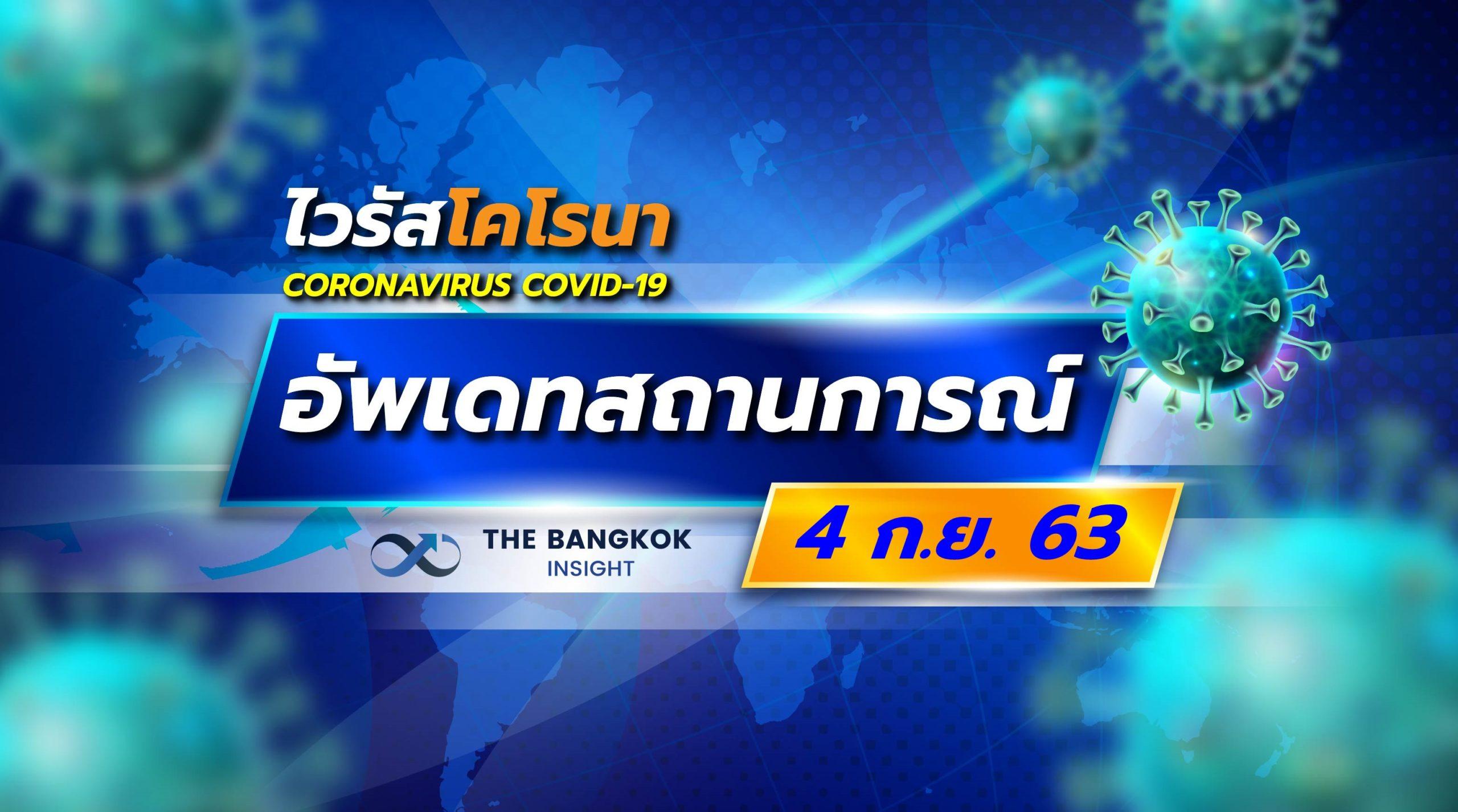 อัพเดทสถานการณ์ 'โควิด' วันที่ 4 กันยายน 2563 ทั่วโลก ทั่วไทย