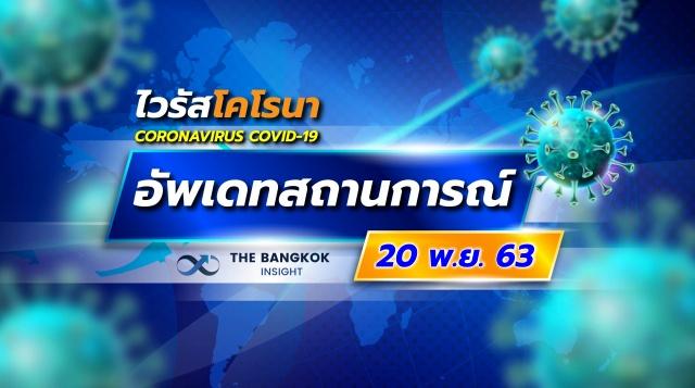 อัพเดทสถานการณ์ 'โควิด' วันที่ 20 พฤศจิกายน 2563 ทั่วไทย-ทั่วโลก