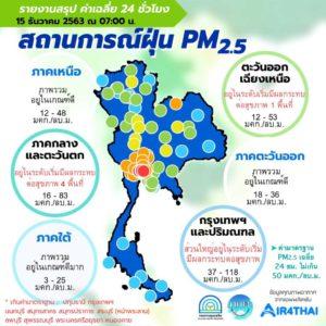 PM2.5 วันนี้ 15 ธ.ค.