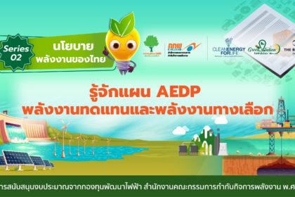 รูปข่าว ทำความรู้จัก แผนพัฒนาพลังงานทดแทนและพลังงานทางเลือก พ.ศ. 2561-2580 (AEDP 2018)