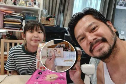 รูปข่าว เต๋า สมชาย สุดปลื้ม ลูกสาวเก็บเงิน มอบให้เป็นของขวัญวันเกิดอายุครบ 47