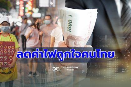 รูปข่าว มาตรการเยียวยา 'ลดค่าไฟฟ้า' ถูกใจคนไทยมากที่สุด