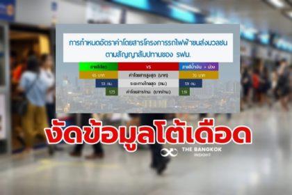 รูปข่าว รฟม. โต้ 'สามารถ' เทียบค่าโดยสาร 'รถไฟฟ้า MRT' ยังไงก็ต่ำกว่าสายสีเขียว