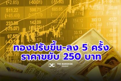 รูปข่าว ราคาทองในประเทศผันผวน ปรับขึ้น-ลง 5 ครั้ง ปิดวันนี้ขยับ 250 บาท แนวโน้มไปต่อ