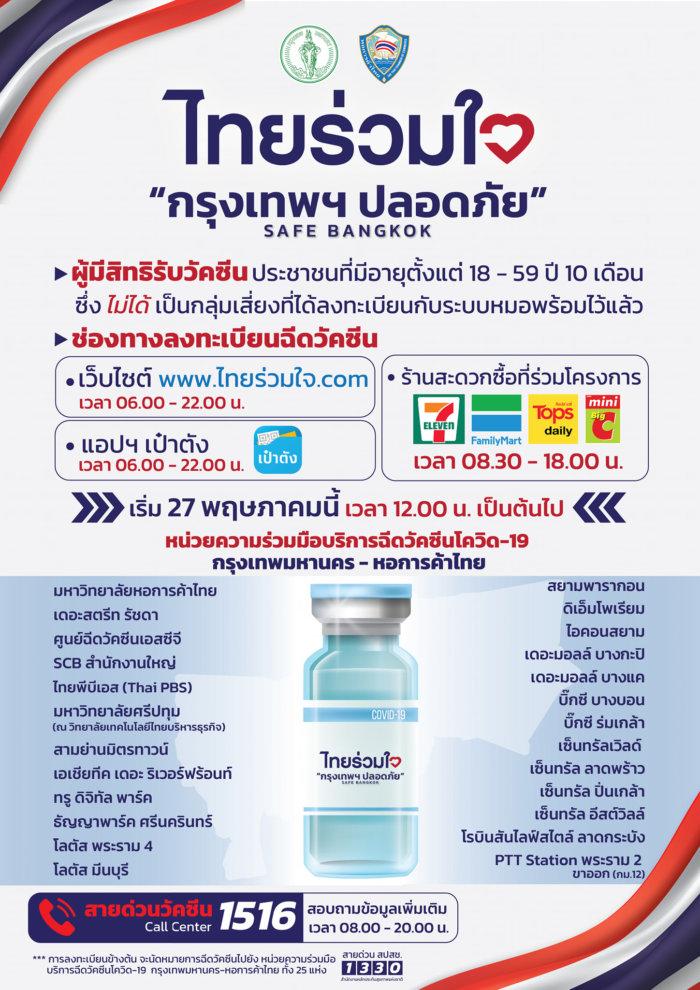 ฉีดวัคซีนโควิด กทม.
