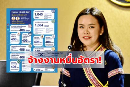 รูปข่าว 'รองโฆษกรัฐบาล' เปิดข้อมูลจ้างงาน 10,000 อัตรา มีที่ไหนบ้าง เช็คเลย!!