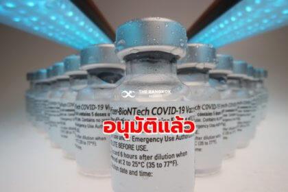 รูปข่าว อนุมัติแล้ว! 'วัคซีนไฟเซอร์' ขึ้นทะเบียนในไทยสำเร็จ