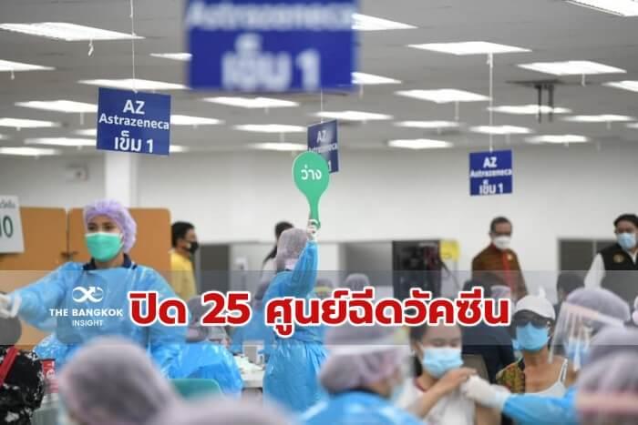 ปิดศูนย์ฉีดวัคซีน 25 แห่ง