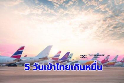 รูปข่าว 'คมนาคม' เผย 27 สายการบินขอเข้าไทย เปิดประเทศ 5 วันแรก ผู้โดยสารกว่าหมื่นคน